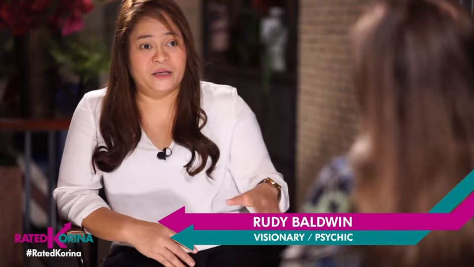 Rudy Baldwin appears on TV to share her predictions.