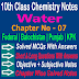 10 Class Chemistry | Water Notes