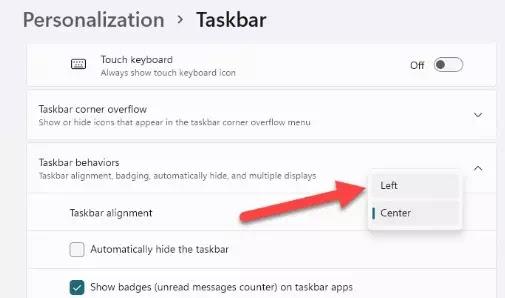 Cara Memindahkan Taskbar Windows 11 ke Kiri-4