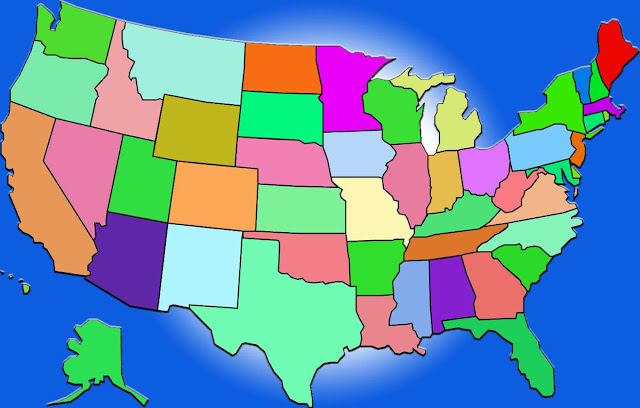 image: United States Map Blank Color