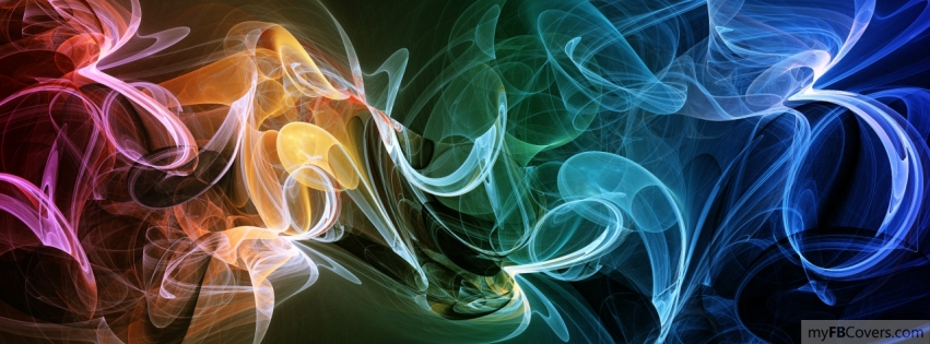 My Fb Covers: 3D Color Smoke Facebook Cover