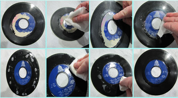 how to clean vinyl records