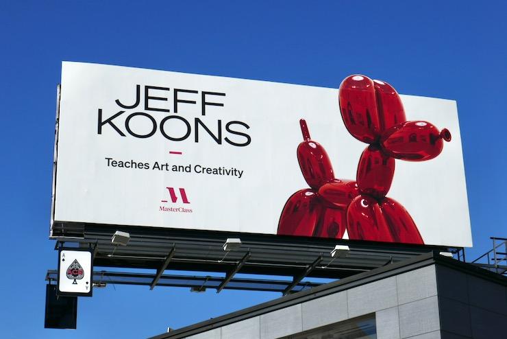 Jeff Koons MasterClass balloon dog billboard