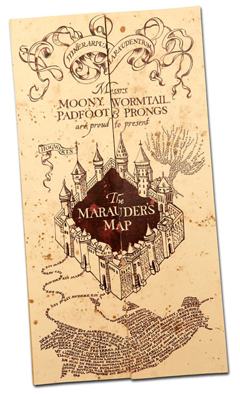 Eloquent image with marauders map printable