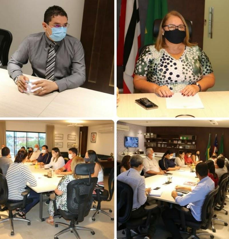 Dirce Prazeres reúne secretários para discutir elaboração de decreto com medidas de segurança contra a Covid-19 em Lima Campos.