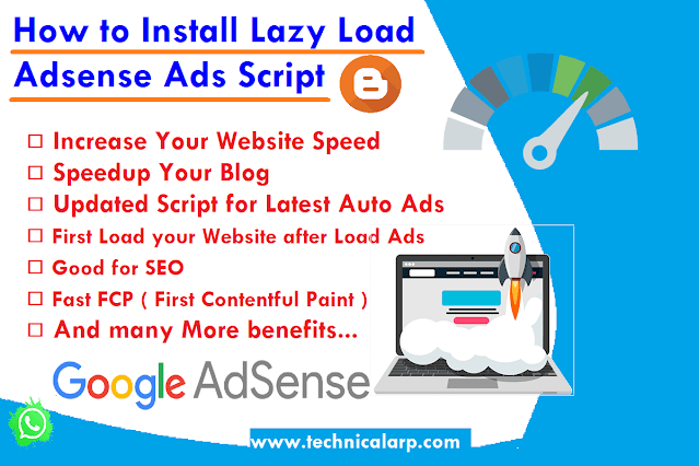 How to Install Lazy Load AdSense Ads Script  Load Ads After Page Load