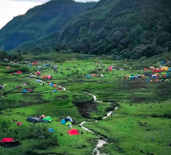Valley in Indonesia with a Very Beautiful View