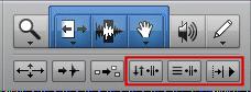Pro Tools Edit Curson and Playback Controls