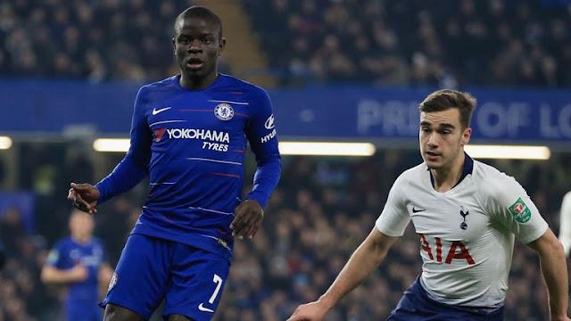 N'golo Kante Chelsea FC Vs Tottenham Hotspur