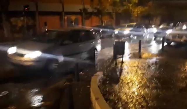 Προβλήματα στη Θεσσαλονίκη από τη νυχτερινή βροχόπτωση