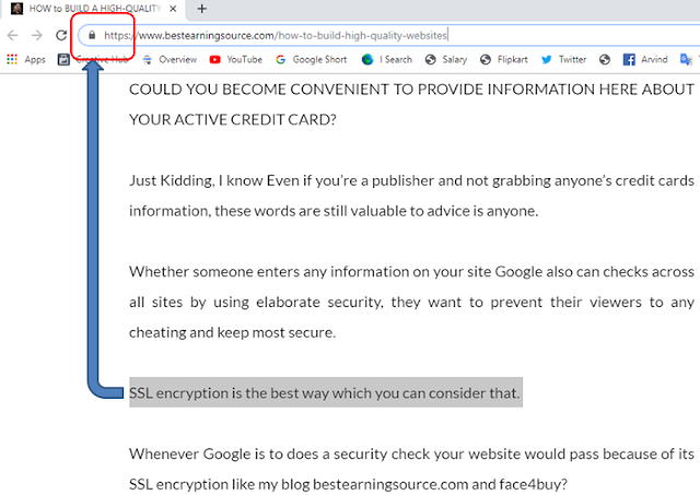 bestearningsource screenshot of SSL encryption
