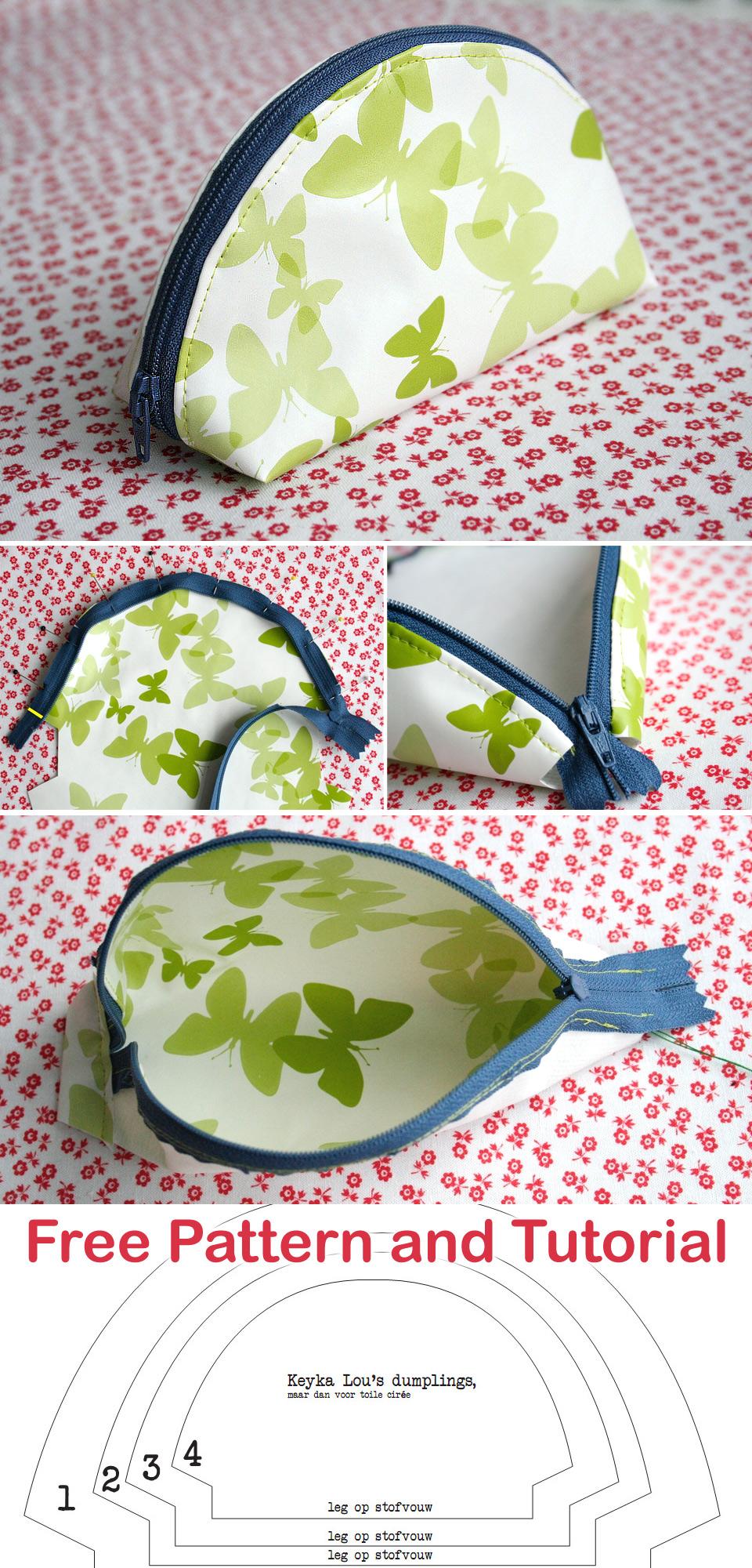 Dumpling Zipper Pouch Tutorial + Pattern