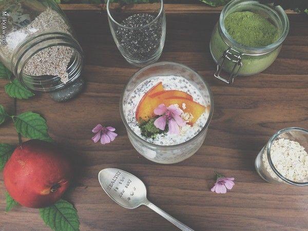 Recette Markal pudding de graines de chia et nectarine