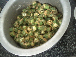 bendakaya fry with besan