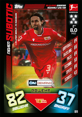 OD73 John Cordoba-Fc Koln Match Attax-On Demand Bundesliga 2019//20