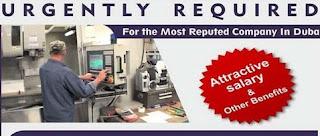 Machine Operator Jobs Recruitment in Dubai Location