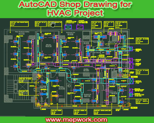 AutoCAD Shop Drawing for Chilled Water HVAC Project | Hvac Piping Drawing |  | MEP WORK