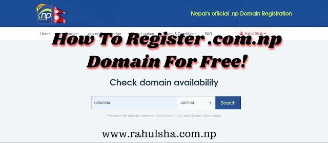 How To Register .com.np Domain name In Nepal  At Free Cost