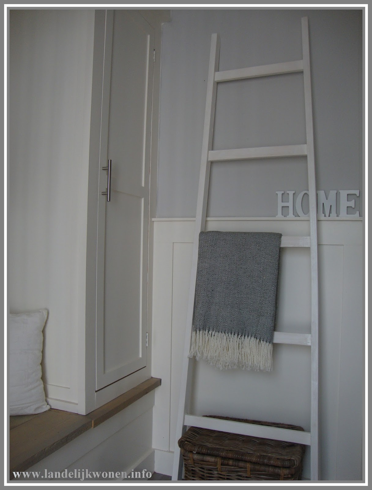 Zeer Landelijk Wonen: Interieur idee: Decoratieve Ladder zelf maken #HJ89