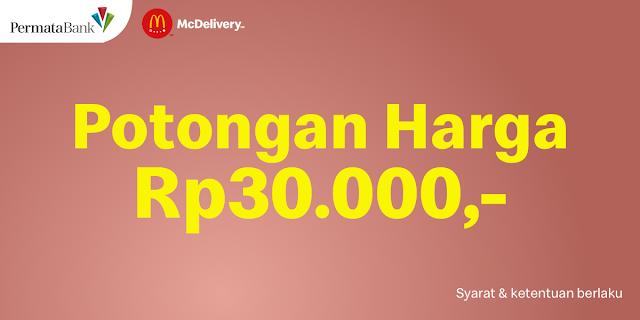 McD Promo Diskon Rp 30.000 dengan Kartu Kredit & Permata Debit Plus