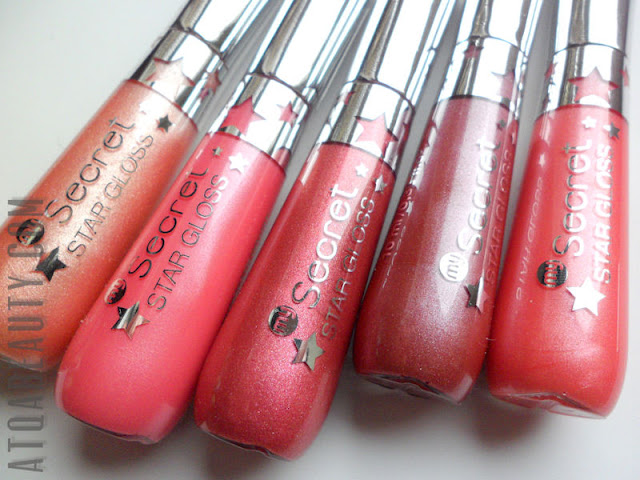 My Secret, Star Gloss Lip Gloss, 411, 412, 413, 414, 415
