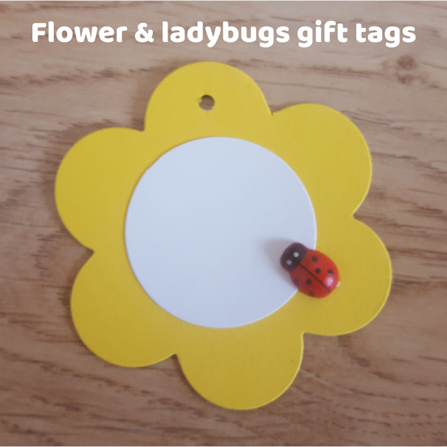 Flower & ladybugs gift tags