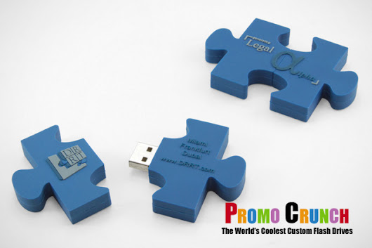 Puzzle Piece shaped and custom molded flash drive