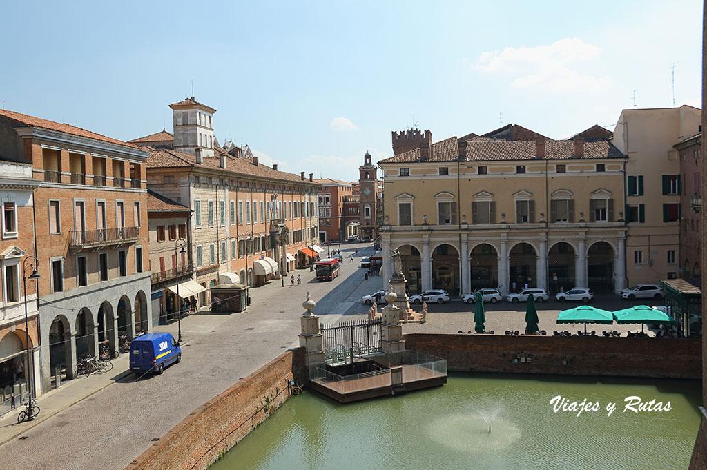 Vistas desde las terrazas del castillo d'Este de Ferrara