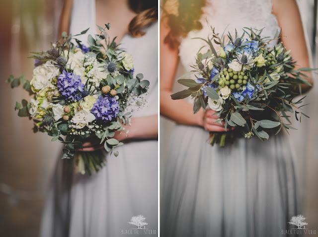 Kwiaty w kolorze serenity blue