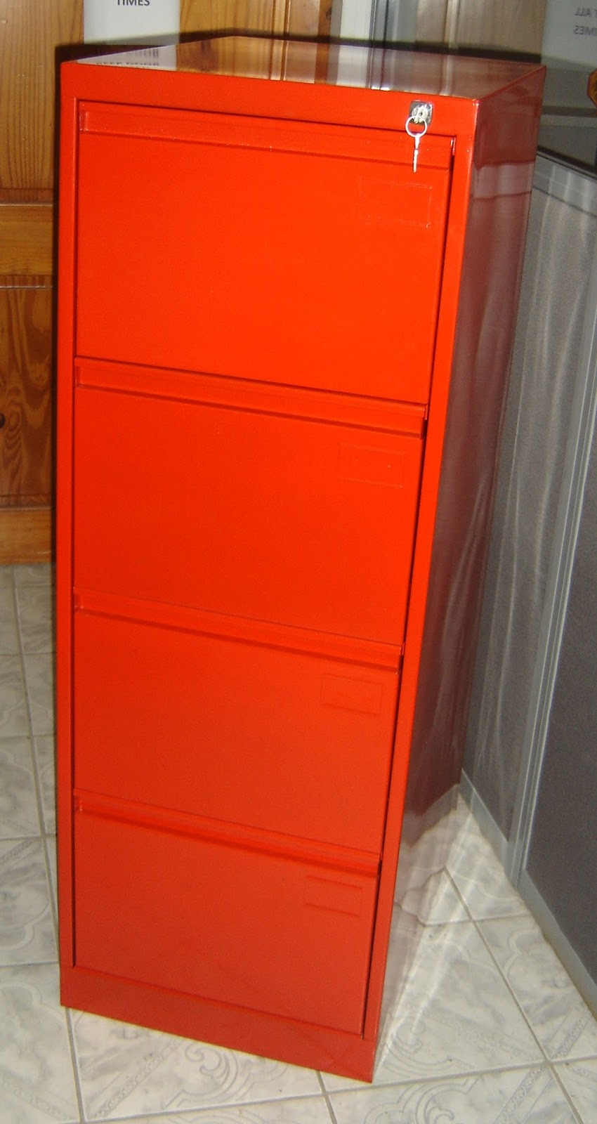 Customized Four (4) Drawer Vertical Filing Cabinet