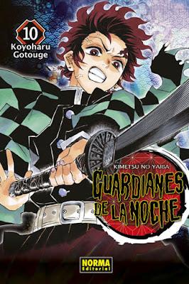 Reseña de Guardianes de la Noche (Kimetsu no Yaiba) vols. 9 y 10 de Koyoharu Gotouge.