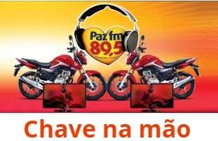 Promoção Rádio PAZ FM 2019 Chave Na Mão Concorra Motos e Tvs 4K