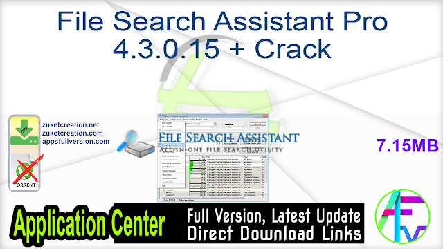 File Search Assistant Pro 4.3.0.15 + Crack