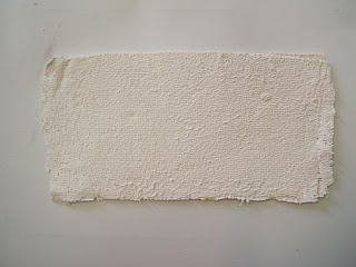 Gauze coated with plaster of Paris