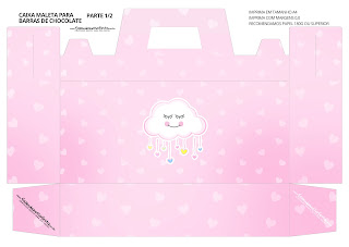 Rain of Blessings for Girl: Free Printable Suitcase Favor Box.