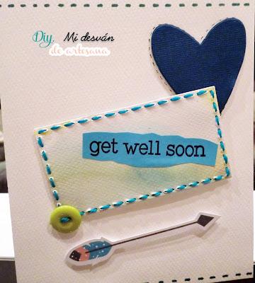 Tarjeta azul C&S get well soon