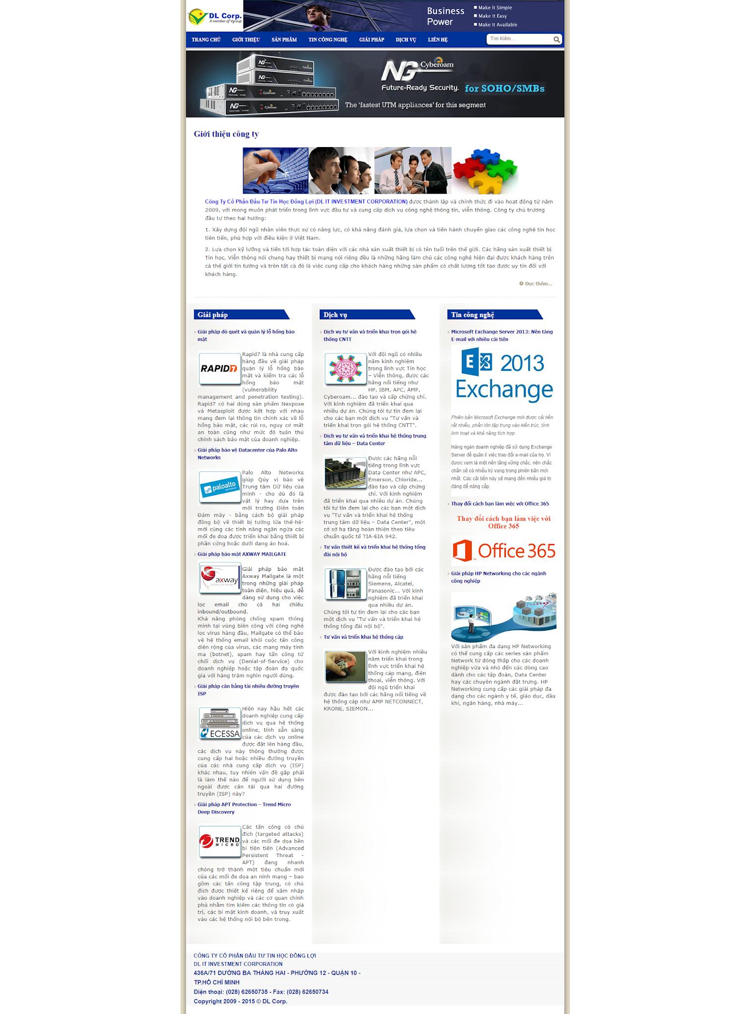 giới thiệu công ty doanh nghiệp KDM002