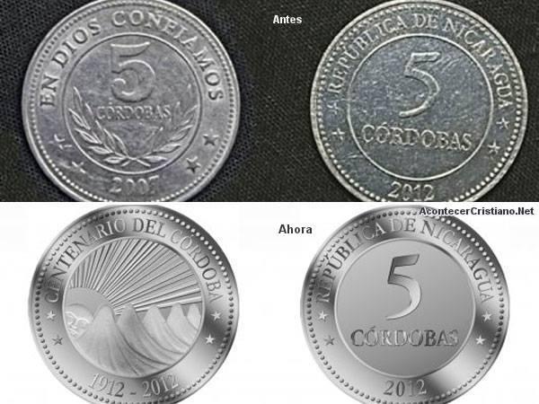 """Quitan """"En Dios confiamos"""" de moneda de Nicaragua"""