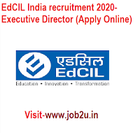 EdCIL India recruitment 2020, Executive Director (Apply Online)