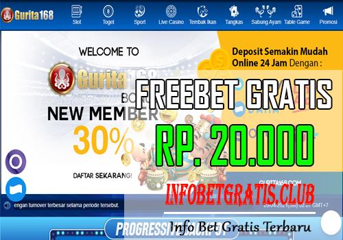 GURITA168 – FREEBET GRATIS RP 20.000 TANPA DEPOSIT