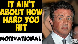 it ain't about how hard you hit, rocky motivational speech, rocky inspirational speech, motivational speech rocky, motivational speech in english, english is easy with rb, sylvester stallone