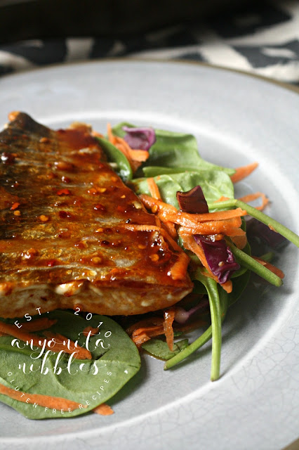 Low FODMAP Sweet and Spicy Grilled Salmon Superfood Salad Anyonita Nibbles