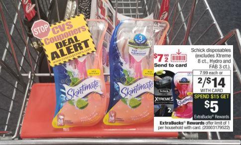 free schick razors cvs couponers