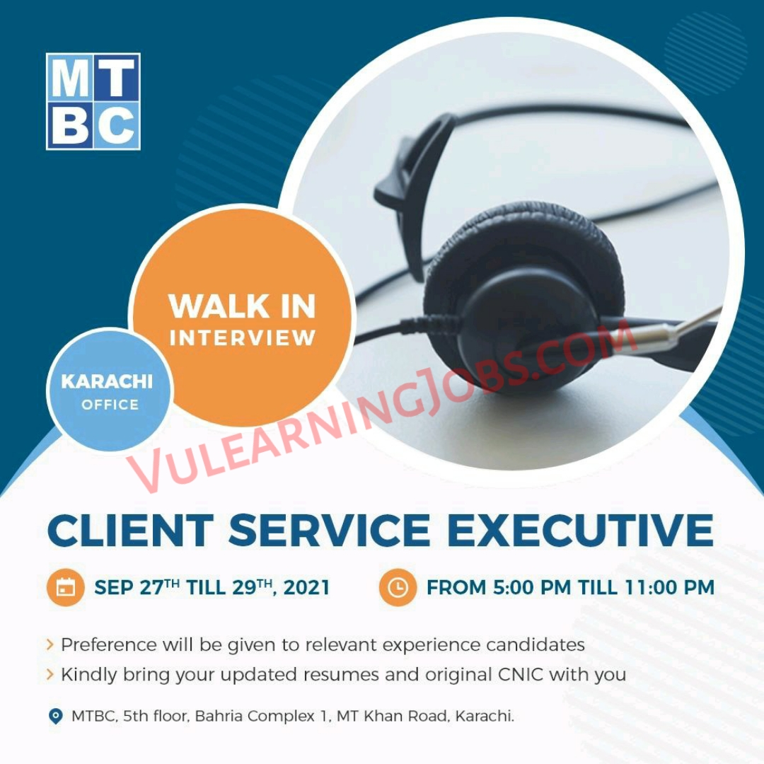 MTBC Walk In Interview Jobs September 2021 For Client Service Executive Latest
