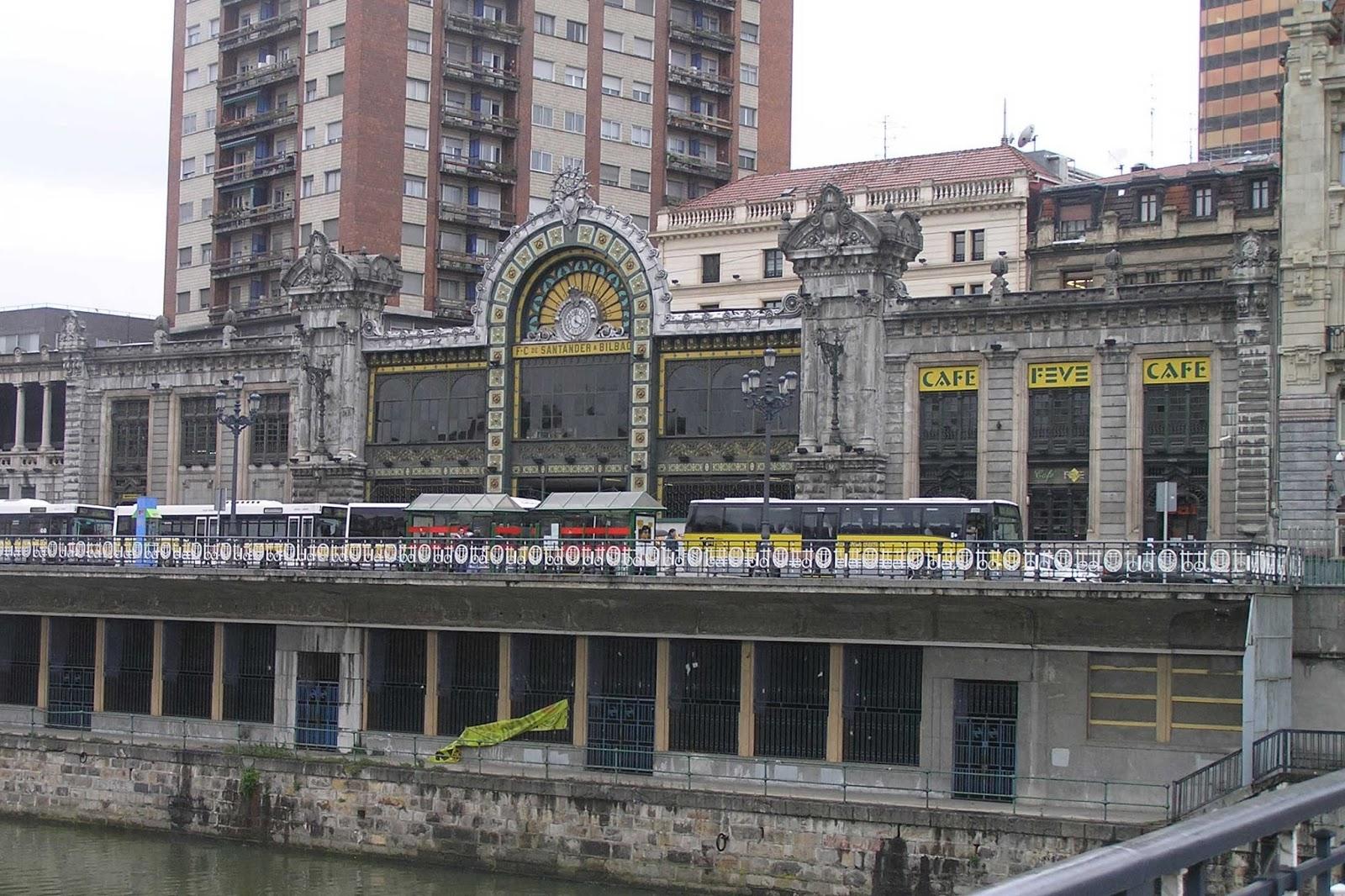 Estación de ferrocarril de Santander o de la Concordia de Bilbao.