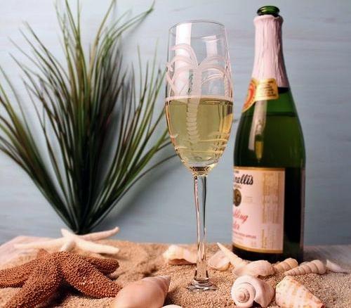Coastal Flutes Champagne Glasses