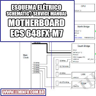 Esquema Elétrico Placa Mãe / Motherboard ECS 648FX-M7 Manual de Serviço  Service Manual schematic Diagram Placa Mãe / Motherboard ECS 648FX-M7    Esquematico Placa Mãe / Motherboard ECS 648 FX M7