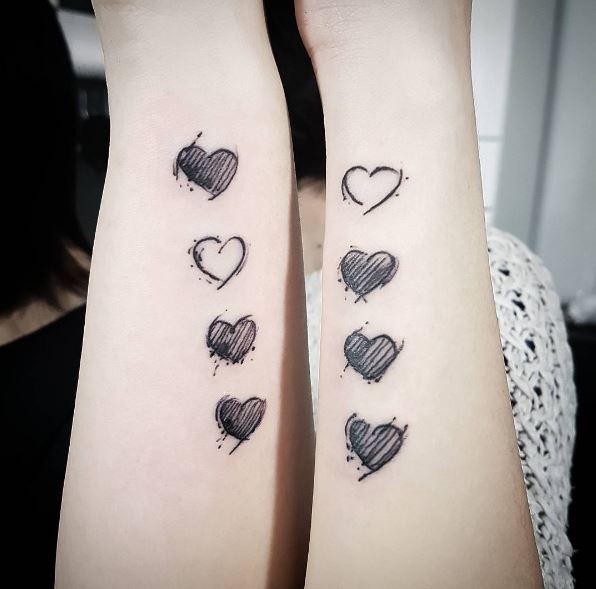 50 matching sisters tattoos designs and ideas 2017 for Sister tattoos for 3