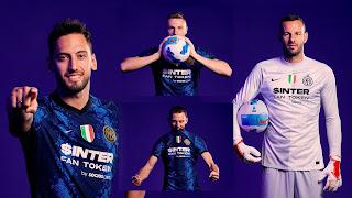 لاعبى الفريق بقميص انتر ميلان الاساسى الجديد موسم 2022