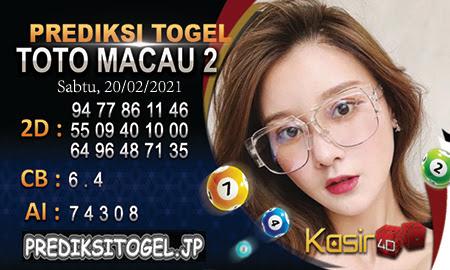Perkiraan box office Togel 4D dari Makau Sabtu, 20 Februari 2021